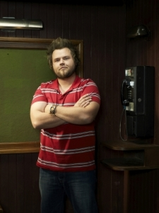 A very happy Tyler Labine of Reaper. Photo courtesy of and copyright of the CW Network