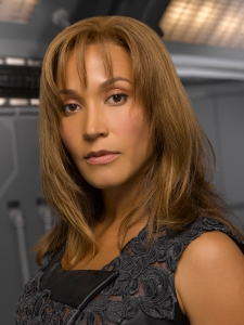Rachel Luttrell as Stargate Atlantis' Teyla Emmagan. Photo by Matthias Clamer and copyright of the Sci Fi Channel