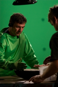 Director Martin Wood gets into green screen mode on Sanctuary. Photo by Jeff Weddell and copyright of the Sci Fi Channel