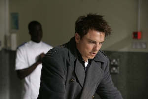 Things go from bad to worse for Captain Jack (John Barrowman) in Torchwood: Children Of Earth. Photo courtesy of and copyright of the BBC