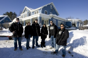 "Ghost Huners International teammembers (L-R): Barry FitzGerald, Brandy Green, Robb Demerest, Angela Alderman, Dustin Pari and Joe Chin from the fifth season Ghost Hunters episode ""Crossing Over."" Photo by Cheryl Senter and copyright of The Syfy Channel"