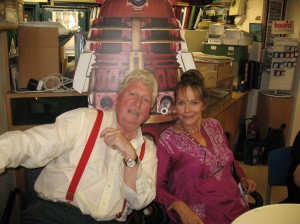 Tom Baker (The Doctor) and Mary Tamm (Romana). Photo by and copyright of Steve Eramo