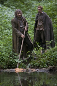 Little John (Gordon Kennedy) and Allan A Dale (Joe Armstrong) search for Robin. Photo copyright of Tiger Aspect Productions