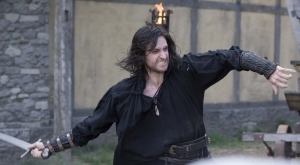Sir Guy of Gisborne (Richard Armitage) in action! Photo copyright of Tiger Aspect Productions