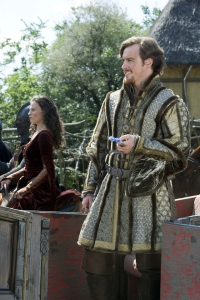 Isabella (Lara Pulver) and Prince John (Toby Stephens). Photo copyright of Tiger Aspect